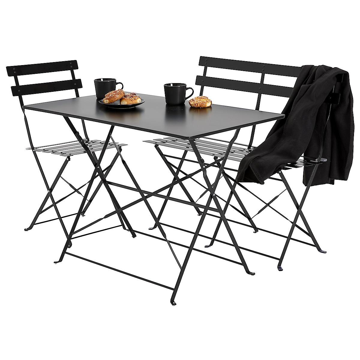 Hopfällbart bord, utemöbler metall
