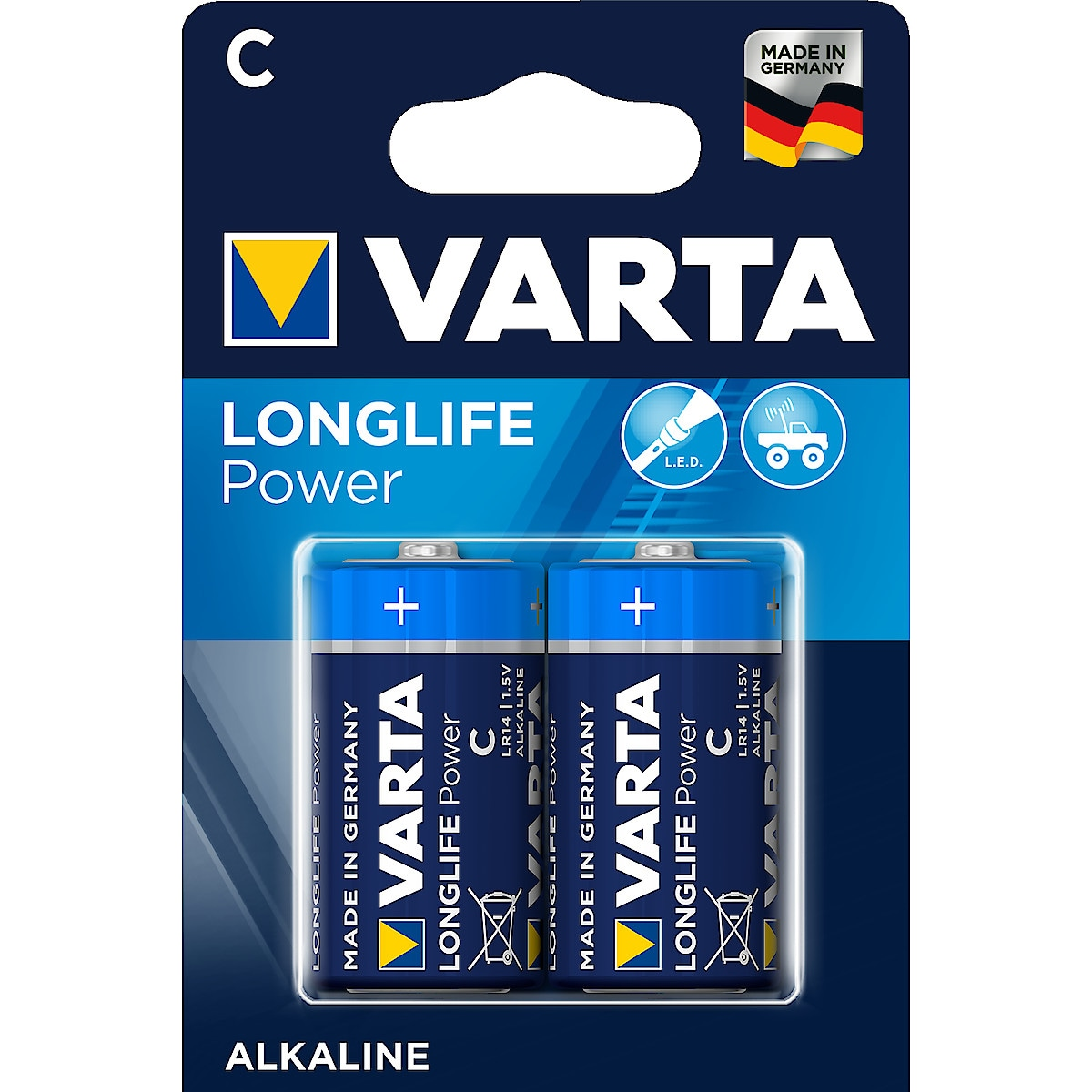 Alkaliparisto C/LR14 VARTA Longlife Power