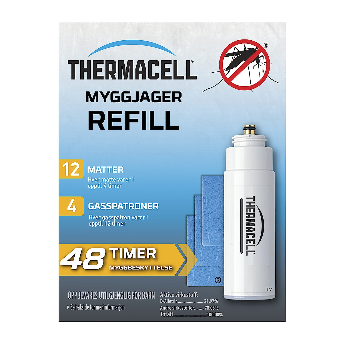 Refill til Thermacell myggjager, 4-pack