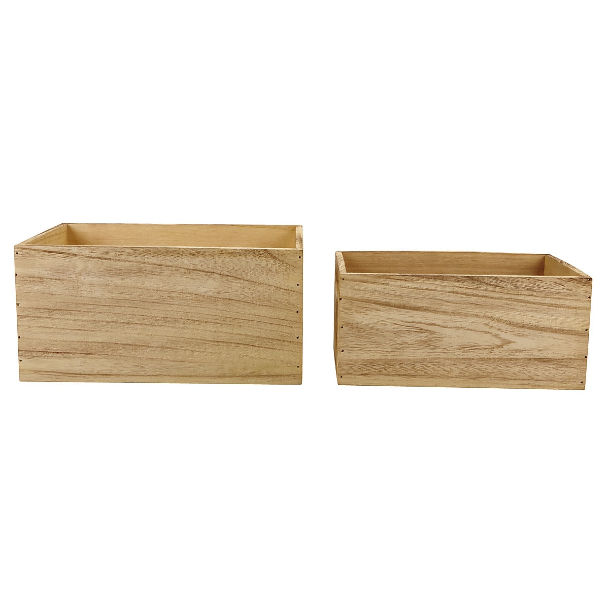 Set of 2 Wooden Crates