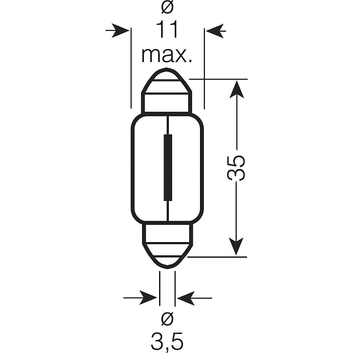 Osram C5W, SV8.5-8 Car Bulb
