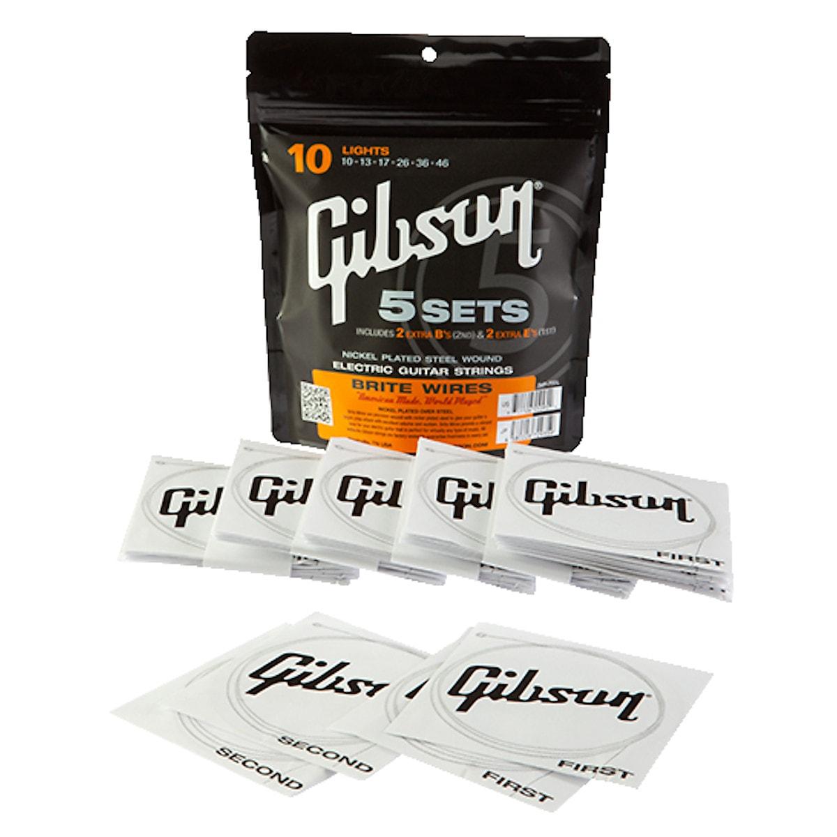 Gibson Brite Wires gitarstrenger, elgitar, 5-pack