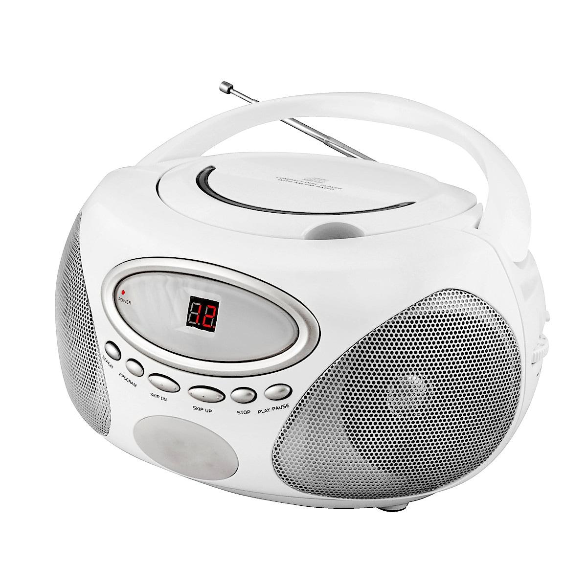 CD-spiller med FM-radio