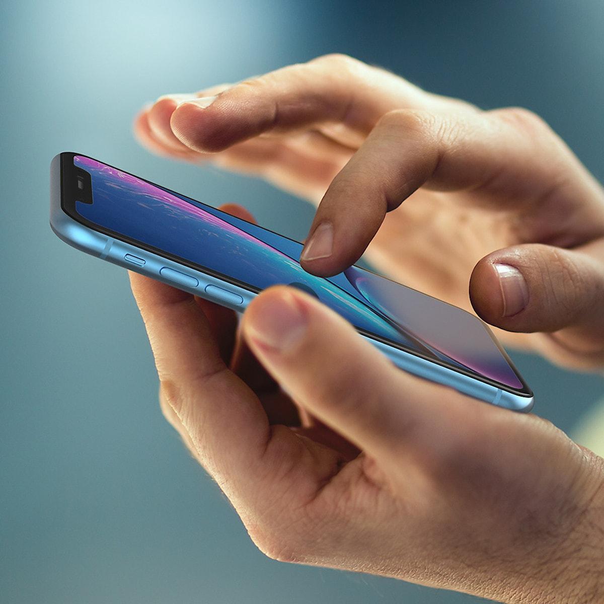 Lasinen näytönsuojus iPhone XR, Belkin Screenforce TemperedCurve