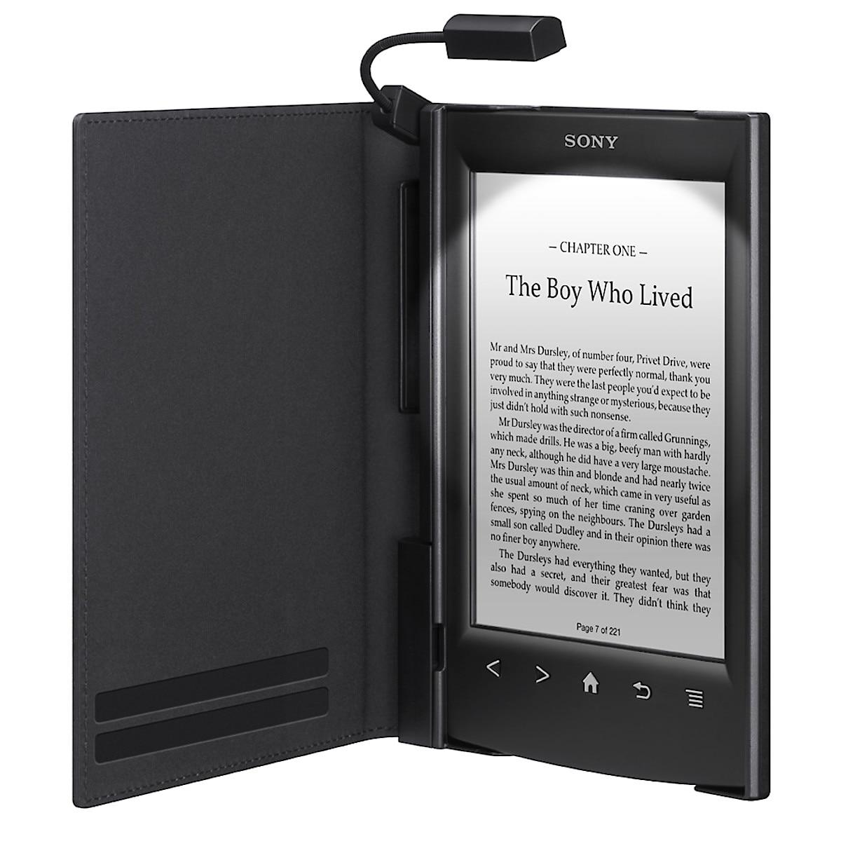 Sony futteral med leselampe for e-bokleser