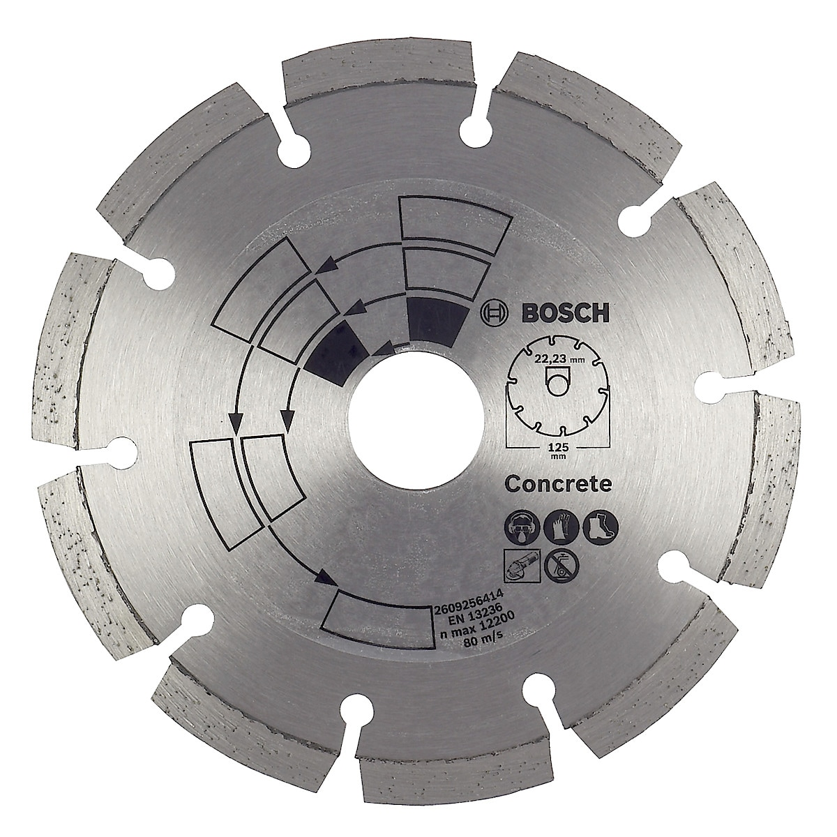 Diamantkapskiva för betong 125 mm, Bosch