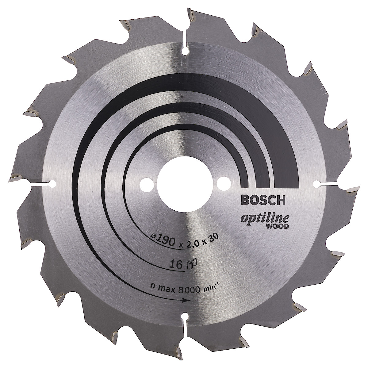Hårdmetallklinga Bosch Optiline, 190 mm