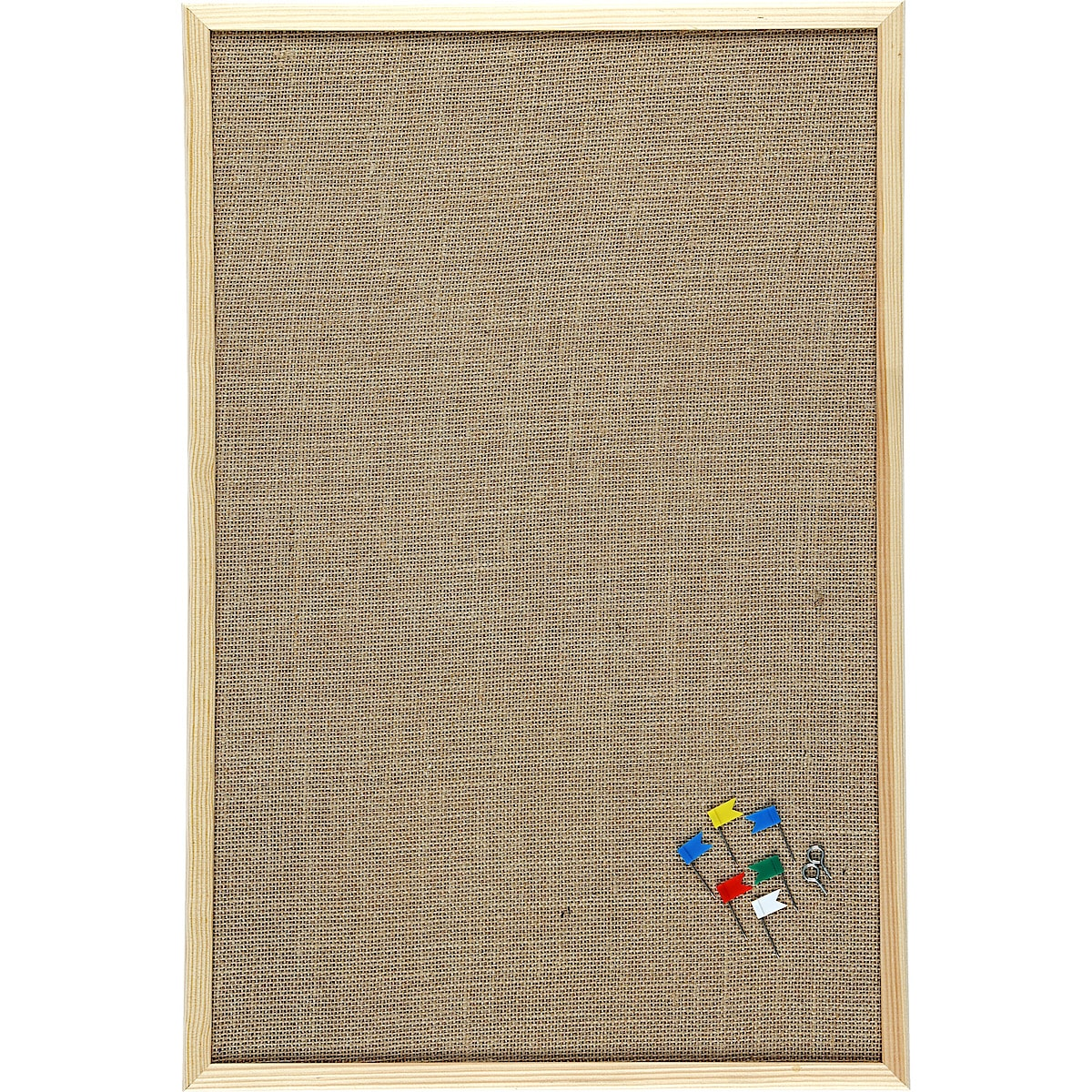 Jute-Pinnwand 60 x 40 cm