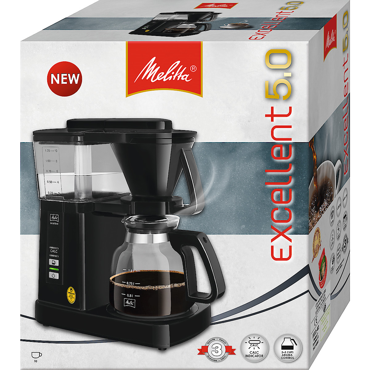 Kaffebryggare Melitta Excellent 5.0 Svart