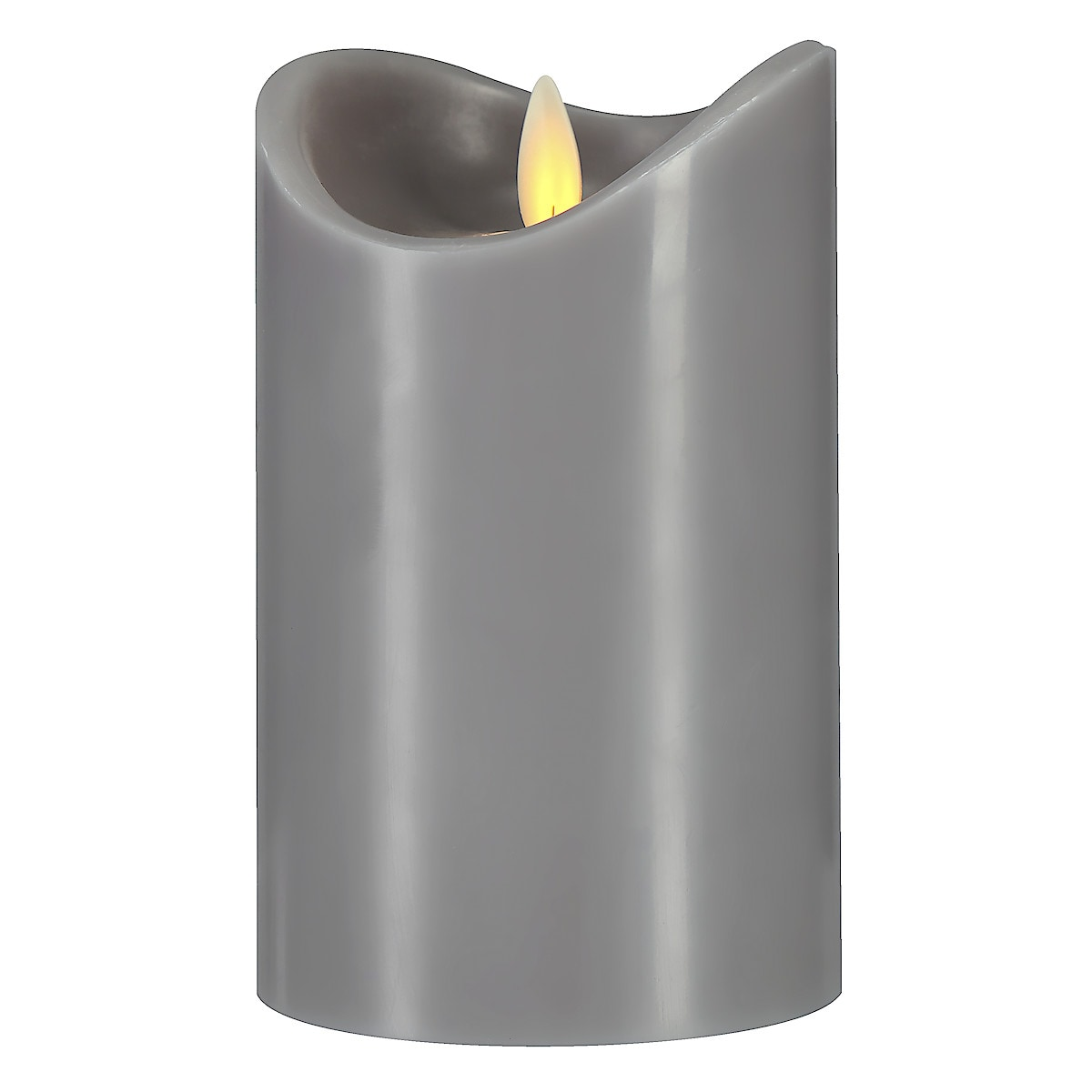 LED-kubbelys med flamme, 13 cm