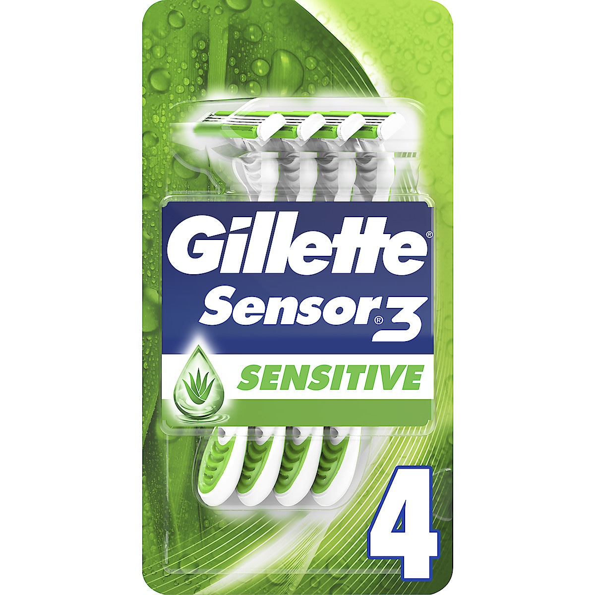 Gillette Sensor 3 Sensitive barberhøvel, 4 stk.