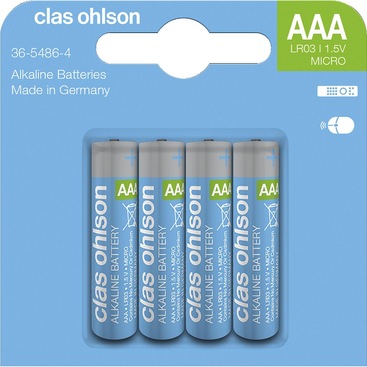 Alkaliskt batteri AAA/LR03 Clas Ohlson
