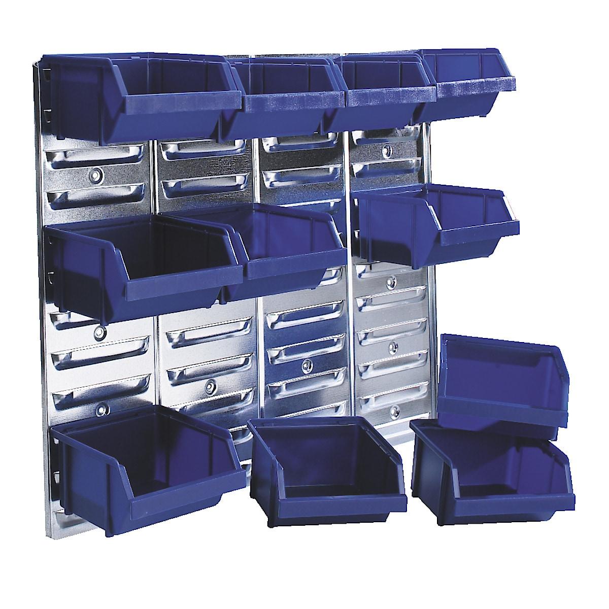Säilytyslaatikkotaulu Raaco ja 12 laatikkoa