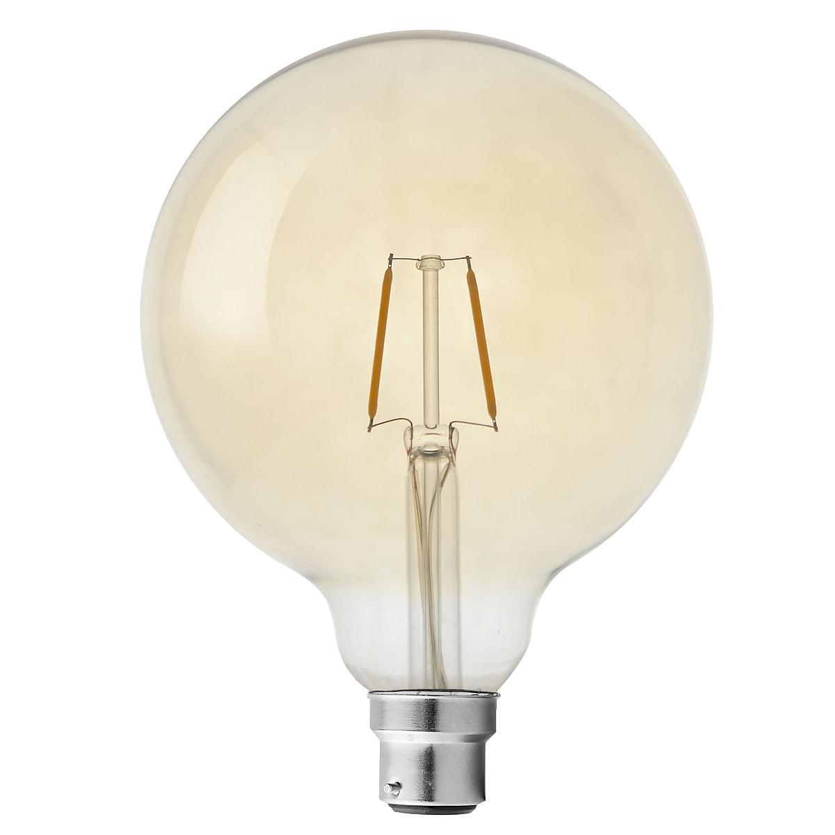 B22 Globe LED Filament Bulb