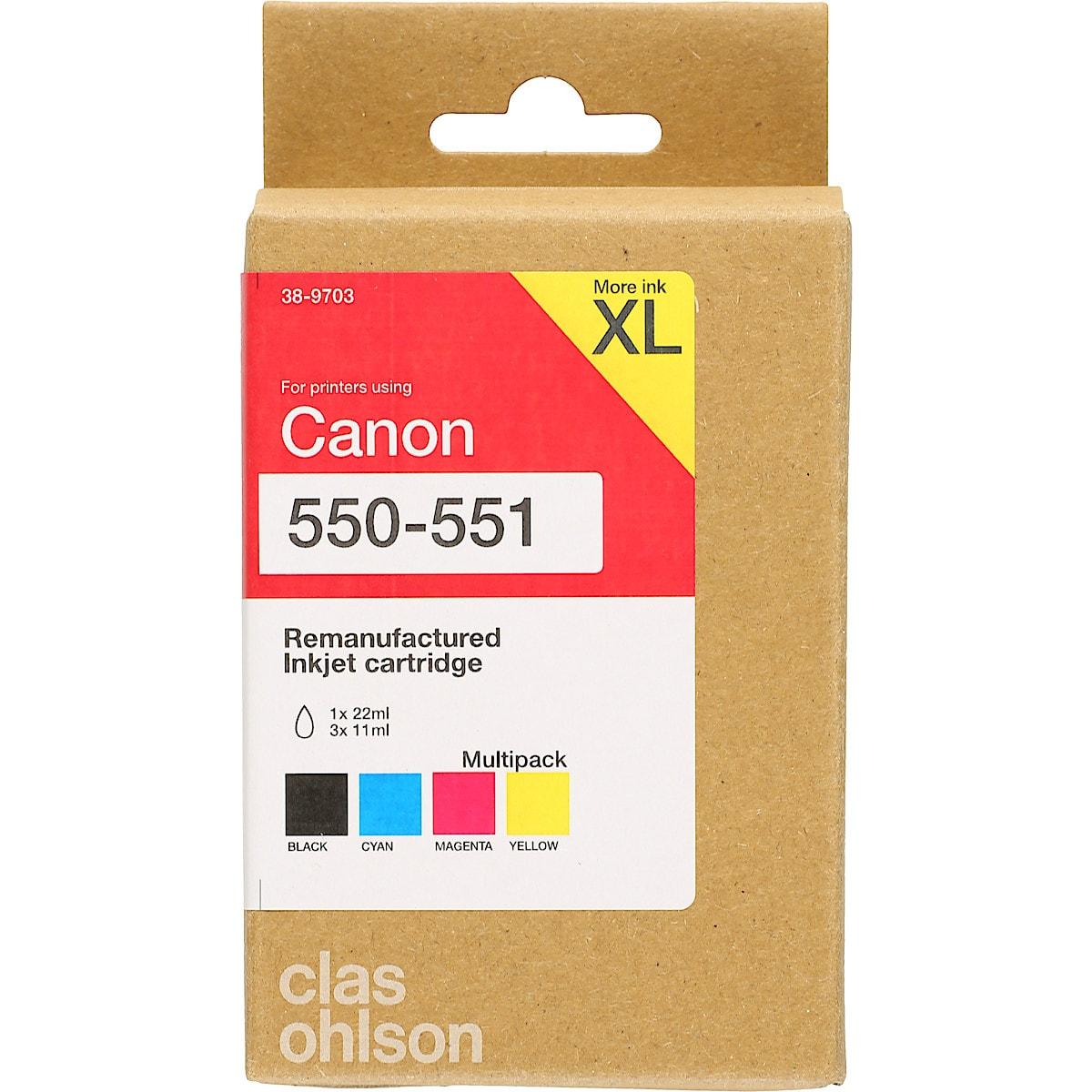 Clas Ohlson blekkpatron multipack XL til Canon PGI-550 / CLI-551