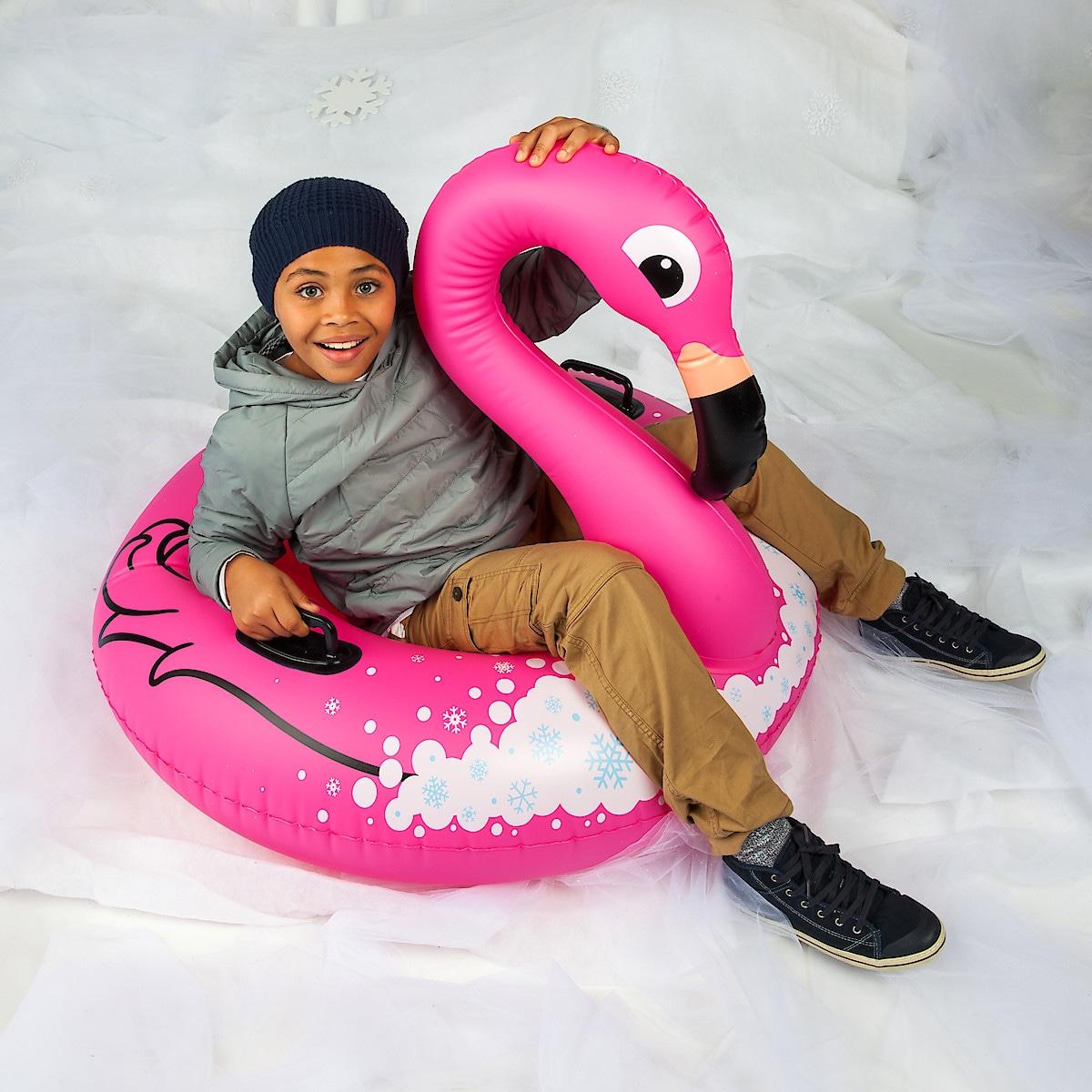 Snow tube, flamingo