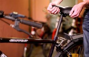 Byt cykelsadel
